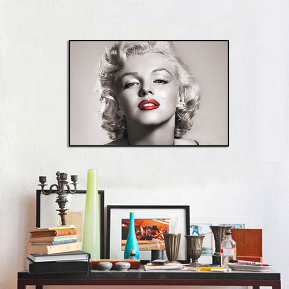 Unframed HD Canvas Prints Portrait Marilyn Monroe Giclee Wall Decor Prints Wall Pictures For Living Room Wall Art Decoration