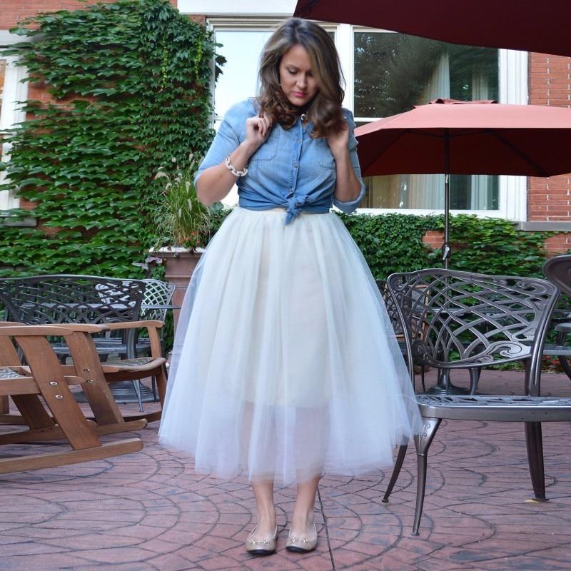 Las Tutu Estilo La Sheert Mujeres Lolita Blanco Faldas Revestimiento Custom Longitud Made Ropa Para Modesta Tobillo Señora Corto 8dYwUq