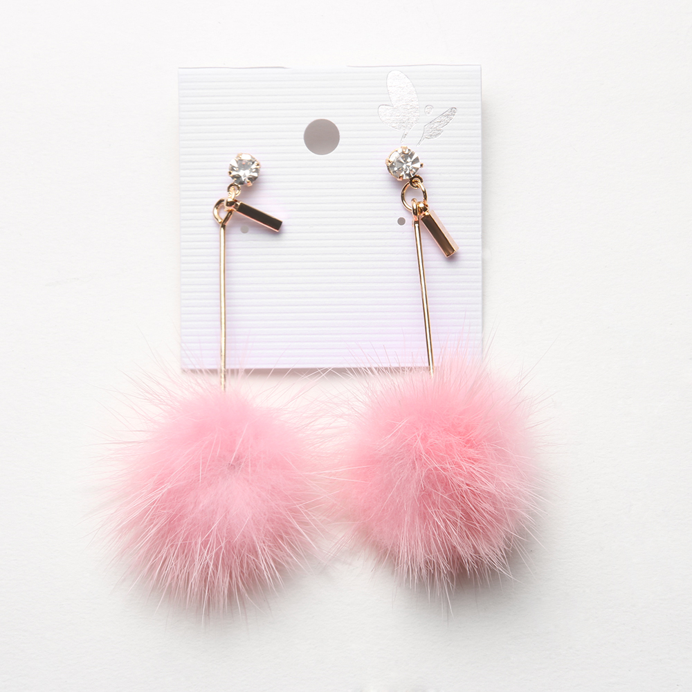 1eadc8d74 Detail Feedback Questions about 1 Pair New Arrival Cute Faux Fur Pompom Ball  Dangle Earrings Long Drop Earring for Women Costume Cute Party Festivel  Gifts ...
