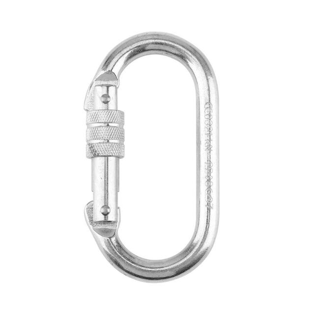 25KN Professional Carabiner D Shape Climbing Security Safety Master Lock Outdoor Rock Climbing Accessories Buckle Equipment