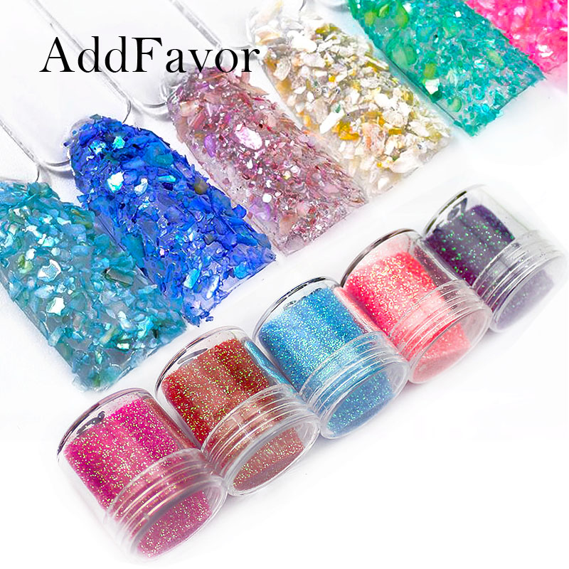 addfavor holographic nail art glitter