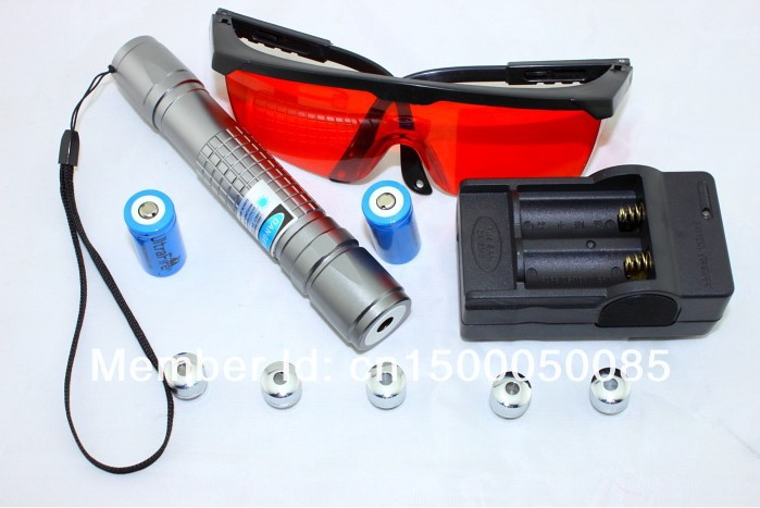 NEW 50000mw 450nm Strong Power Military Blue Laser Pointers Burn Match candle lit Cigarette Wicked Lazer Torch 50Watt+Glasses sos new green red laser pointers 1w 1000mw 532nm high power burning match candle lit cigarette wicked lazer torch 5 caps hunting