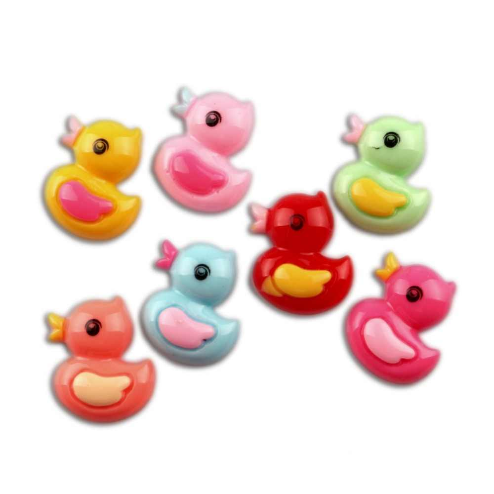 LF Mixed Resin Duck Decoration Crafts Beads Flatback Cabochon Scrapbooking For Embellishments Kawaii Diy Accessories 50Pcs