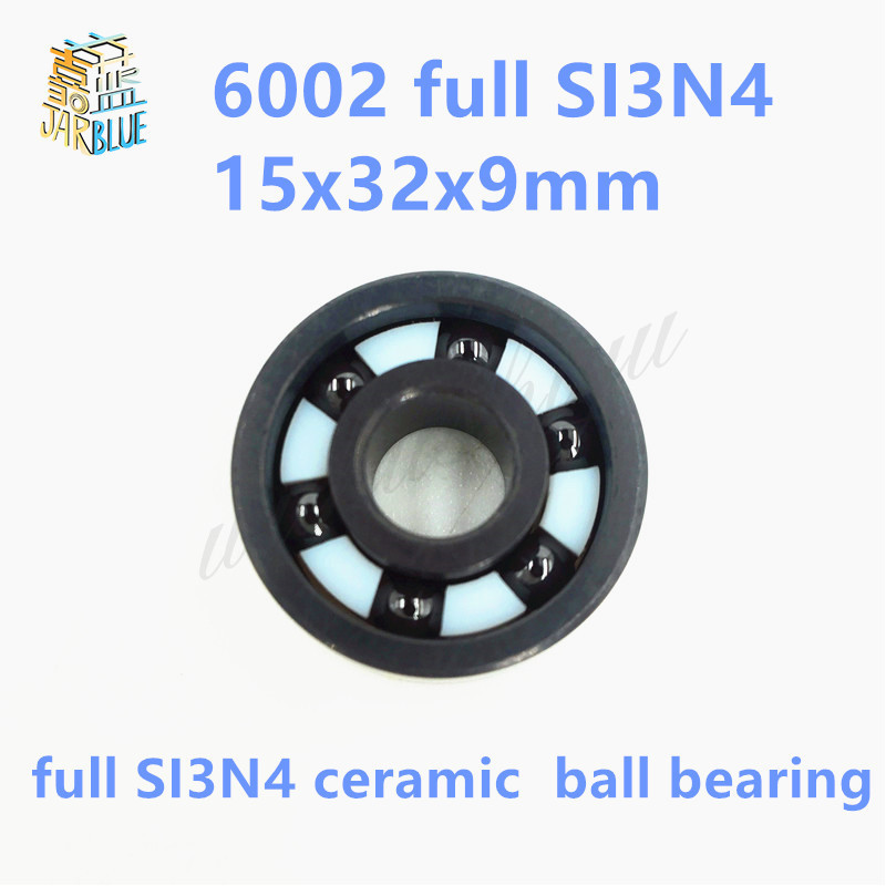 Free shipping 6002 full SI3N4 ceramic deep groove ball bearing 15x32x9mm P5 ABEC5 free shipping 687 full si3n4 ceramic deep groove ball bearing 7x14x3 5mm p5 abec5
