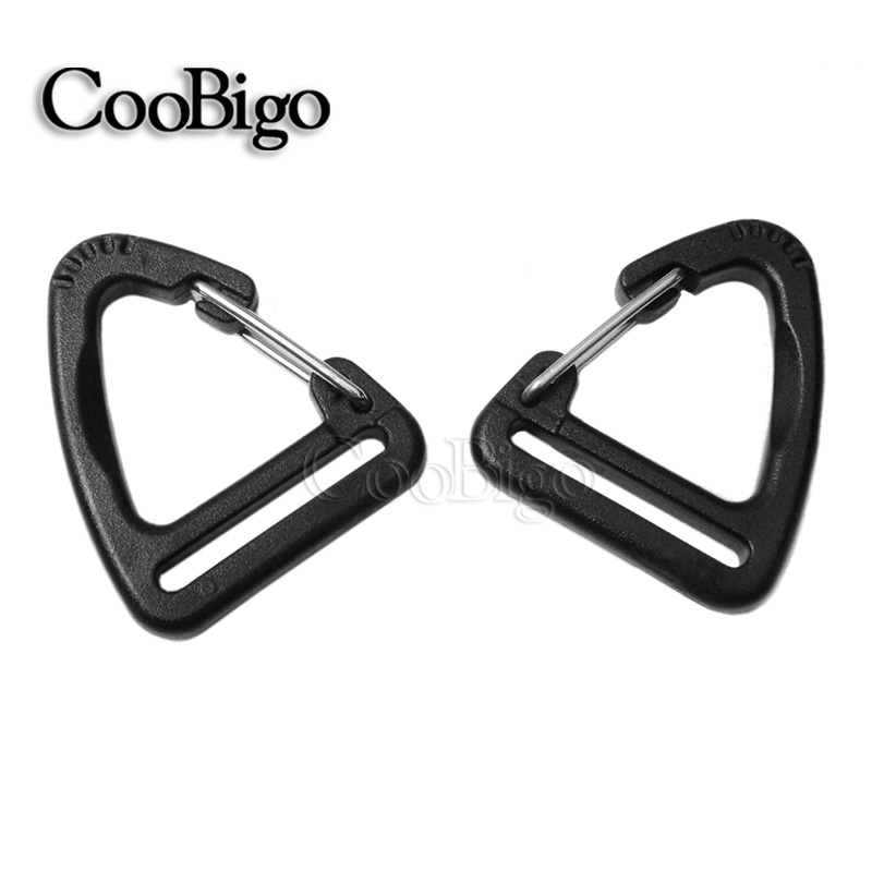 25.2mm Audacious 1000pcs/pack 1 Plastic Buckle Hook For Carabiner Hanging Keychain Hiking Backpack Straps To Invigorate Health Effectively