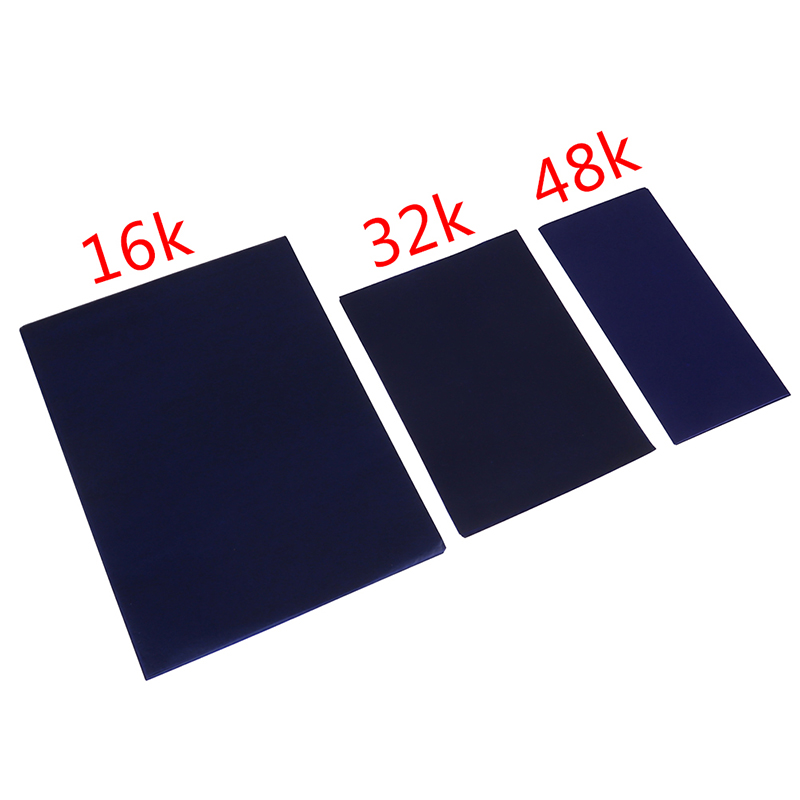 50 Sheets Carbon Paper 16K/32K/48K Blue Double Sided Carbon Copier Stencil Transfer Paper Stationery Paper Office Supplies