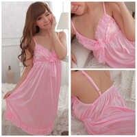 Free shipping five colors Ice silk Women Sexy Nightwear Sleepwear Dress Nighties For Women Sleeping Women Night Sleepwear