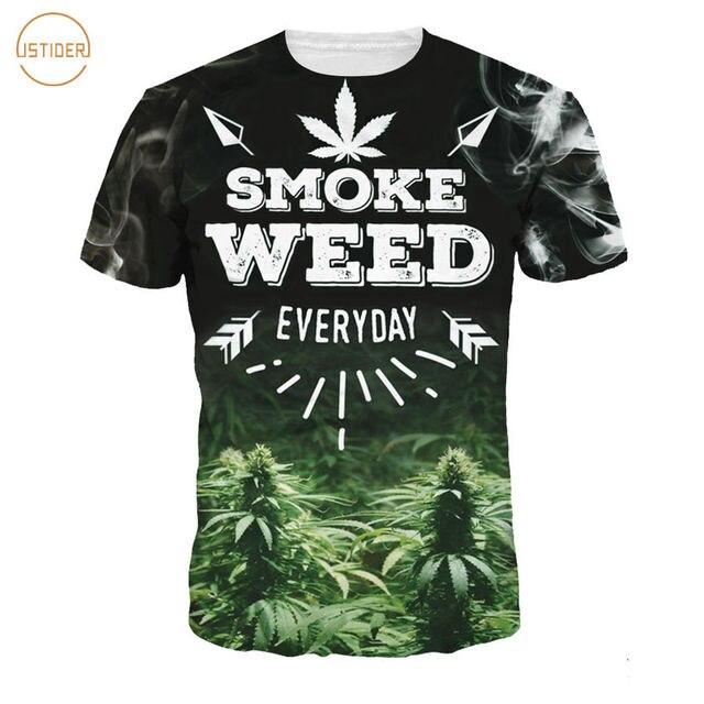 Graphique Weed 3d Imprimer Smoke Shirts Istider Lettres T Shirt v0U6Fw