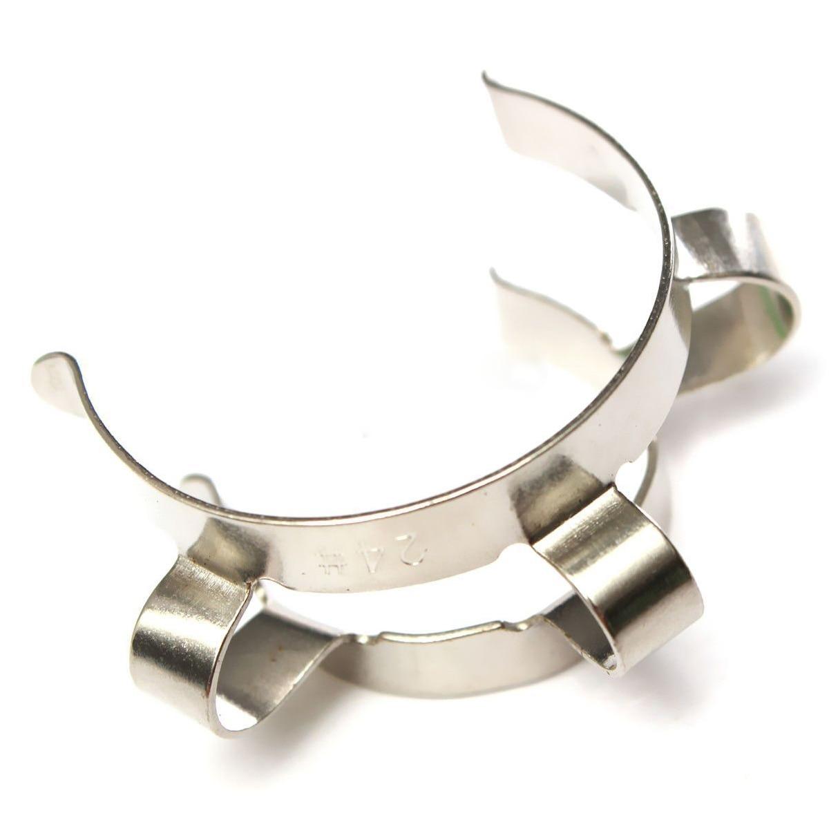 Доступный 2 шт 24# зажим Кек из нержавеющей стали для 24/29 24/40 стеклянного заземления