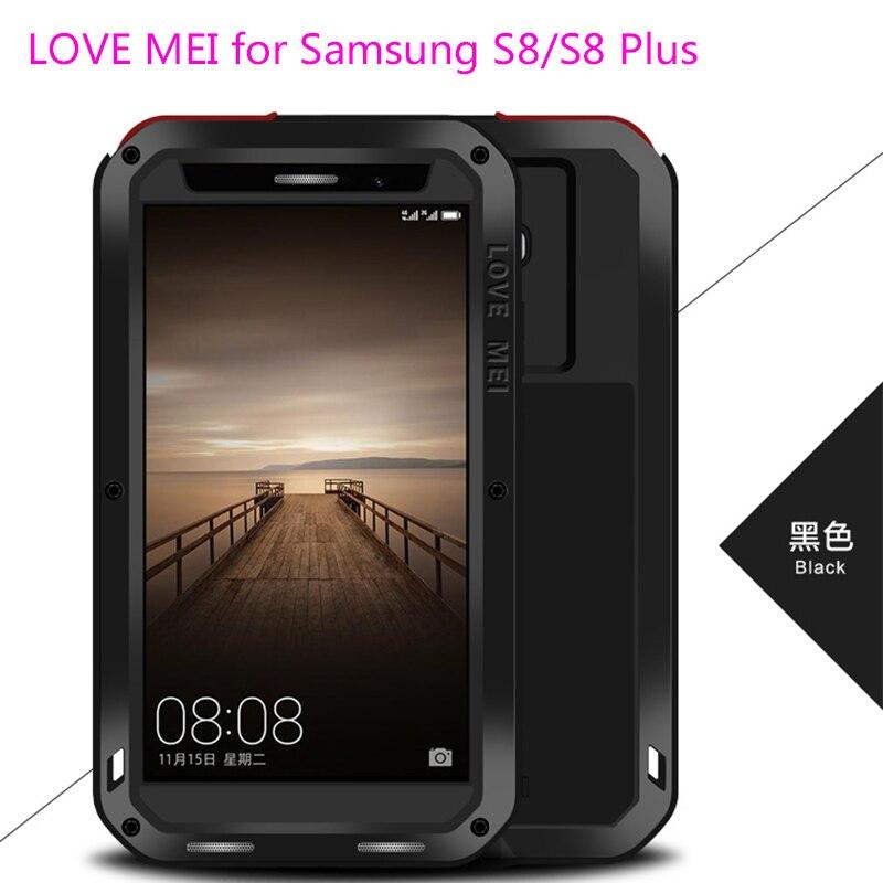 Pour Galaxy S8 + 6.2 Cas 100% D'origine AMOUR MEI Doom Armure Choc preuve Boîtier En Aluminium Coque Pour Samsung Galaxy S8 S8 Plus 6.2