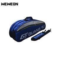 Badminton Racket Badminton Racket Bag Super Capacity 6 Rackets Knapsack Handbag Racket Bag Gym With Independent