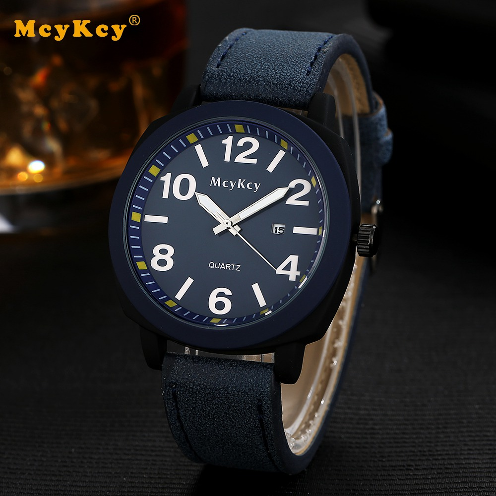 Mcykcy Brand Black Stainless Steel Men Sport Watch Casual Business Luxury Quartz Wristwatches Fashion Leather Strap Mens Watches mcykcy brand stainless steel outdoor quartz wristwatch leather men watches new sports watch for men luxury famous casual clock