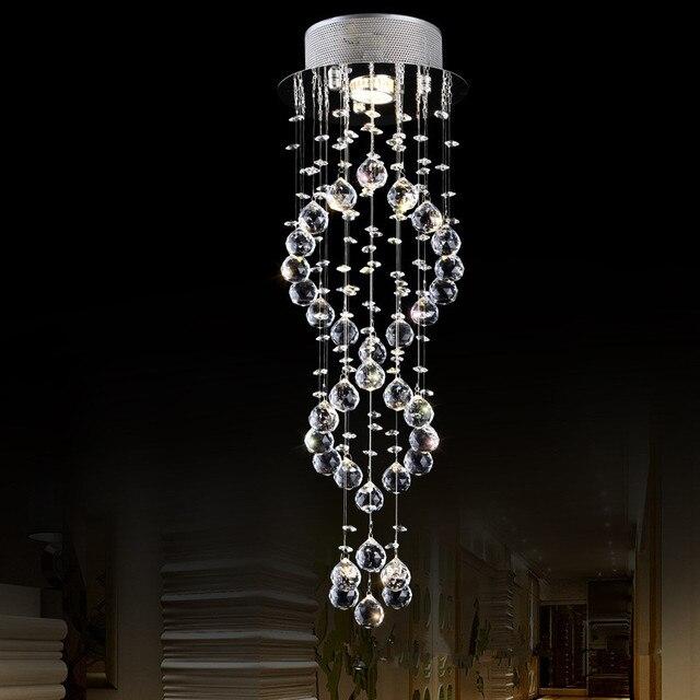 moderne k9 kristall kronleuchter leuchte doppeltreppe led pendelleuchte fr foyer esszimmer restaurant dekoration - Kronleuchter Fur Foyer