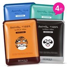Cuidado de la piel marca ovejas / Panda / del perro / tigre embalaje máscara Facial 30 g * 4 unids de Control de aceite hidratante cara linda Animal máscaras