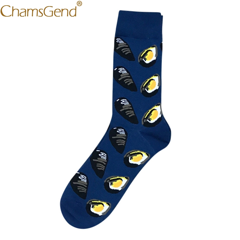 Chamsgend Socks 1Pair Mans Seafood Series Funny calcetines medias Mens Cotton Crew Socks 71215