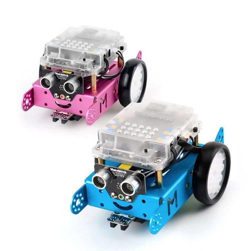 Makeblock MBot V1.1 -Blue / Pink (Bluetooth Version) Upgrated Version DIY Mbot Educational Robot Kit -DIY Car Kids Toys robot робоконструктор ultimate robot kit makeblock