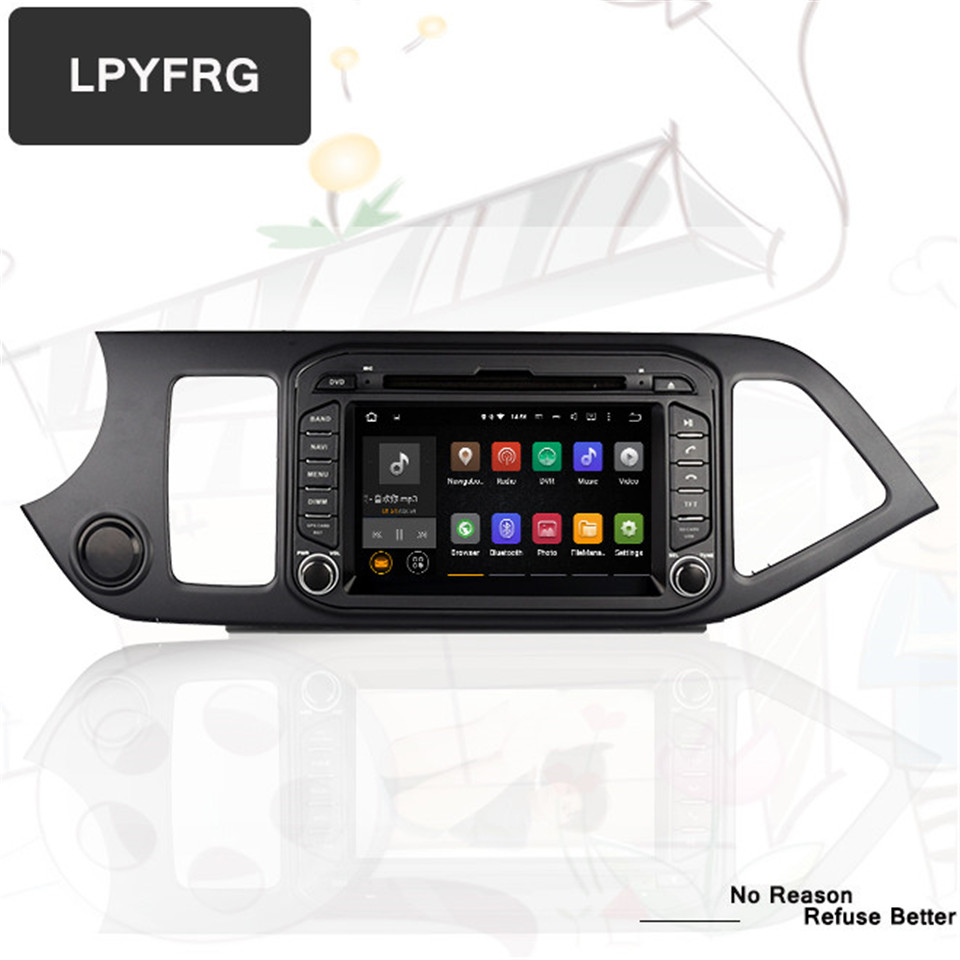 1024 600 4G Ram Android 9 0 Fit KIA PICANTO MORNING 2011 2012 2013 2014 2015