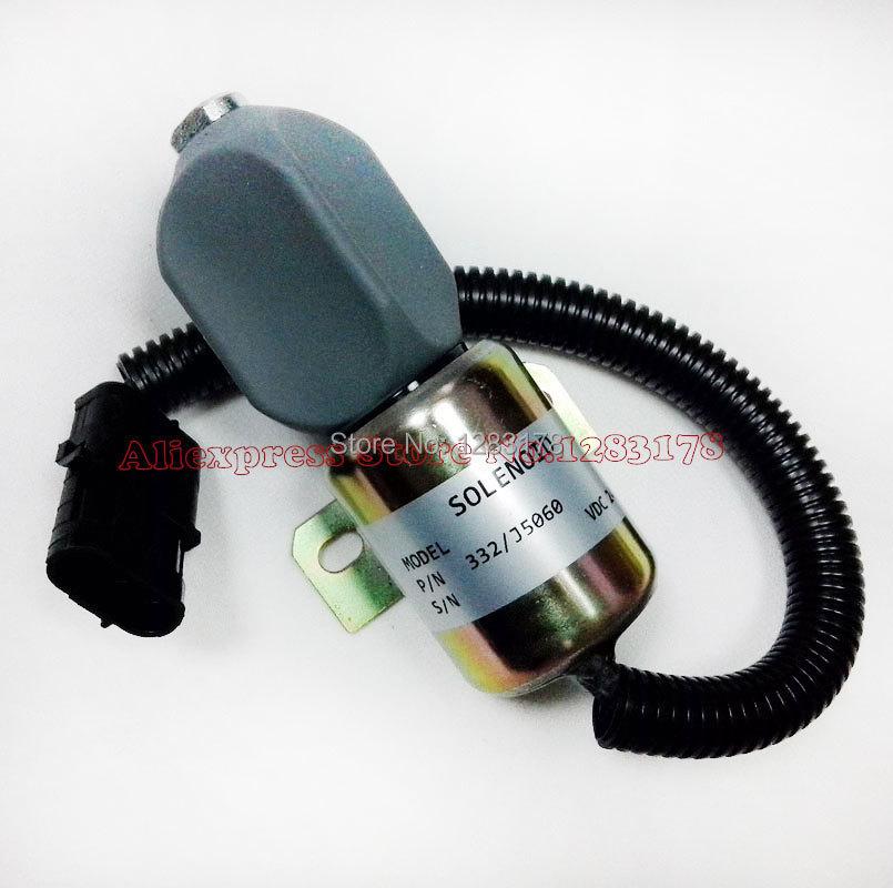 ФОТО For JCB JS130 STOPPER MOTOR JCB 332/J5060 Stop solenoid 24V - Brand New