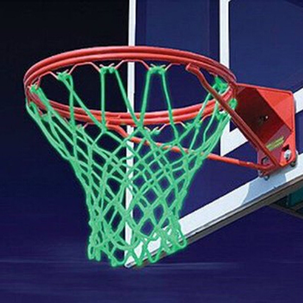 New Glowing Light Shooting Training Green Luminous Basketball Net Backboard Ball Mesh Nylon Standard Basketball Hoop Net