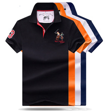 High Quality Tops&Tees Mens Polo shirts Business men brands Shirts 3D embroidery Turn-down collar mens polo shirt P02