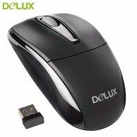 Delux 2.4 Ghz Bezprzewodowa Mysz Optyczna Mysz Szybkiego Kliknięcia Standardowe Myszy PC Laptop Computer Uniwersalny Dla Biura Użytku Rekreacyjnego Hot sprzedaż