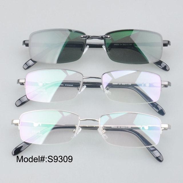 S9309 do Homem magnético clip sobre óculos polarizados RX armações de óculos de prescrição óculos de sol eyewear