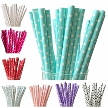 2018 New 25pcs/lot Mini Dot Paper Straws for Kids Birthday Wedding Decorative Event Party Supplies Creative Drinking