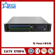 FTTH 1550nm PON EYDFA with WDM Fiber Optical Amplifier 16ports цена