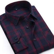 Men Plaid Shirt 2018 New Autumn Winter Flannel Casual Shirt Men Shirts Long Sleeve Chemise Homme Cotton Male Check Shirts