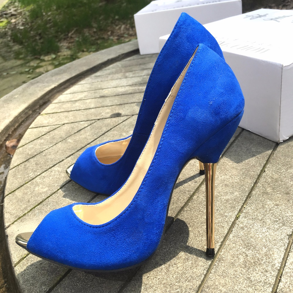 2019 Rushed New Flock Rubber Womens Shoes Women Open Peep Toe Thin High Heels Ladies Office Work Ol Sexy Prom For Woman