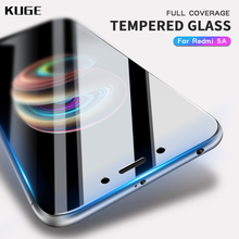 ФОТО kuge 2.5d high quality full cover tempered glass for xiaomi redmi 5a screen protector for xiaomi redmi 5a protective glass film
