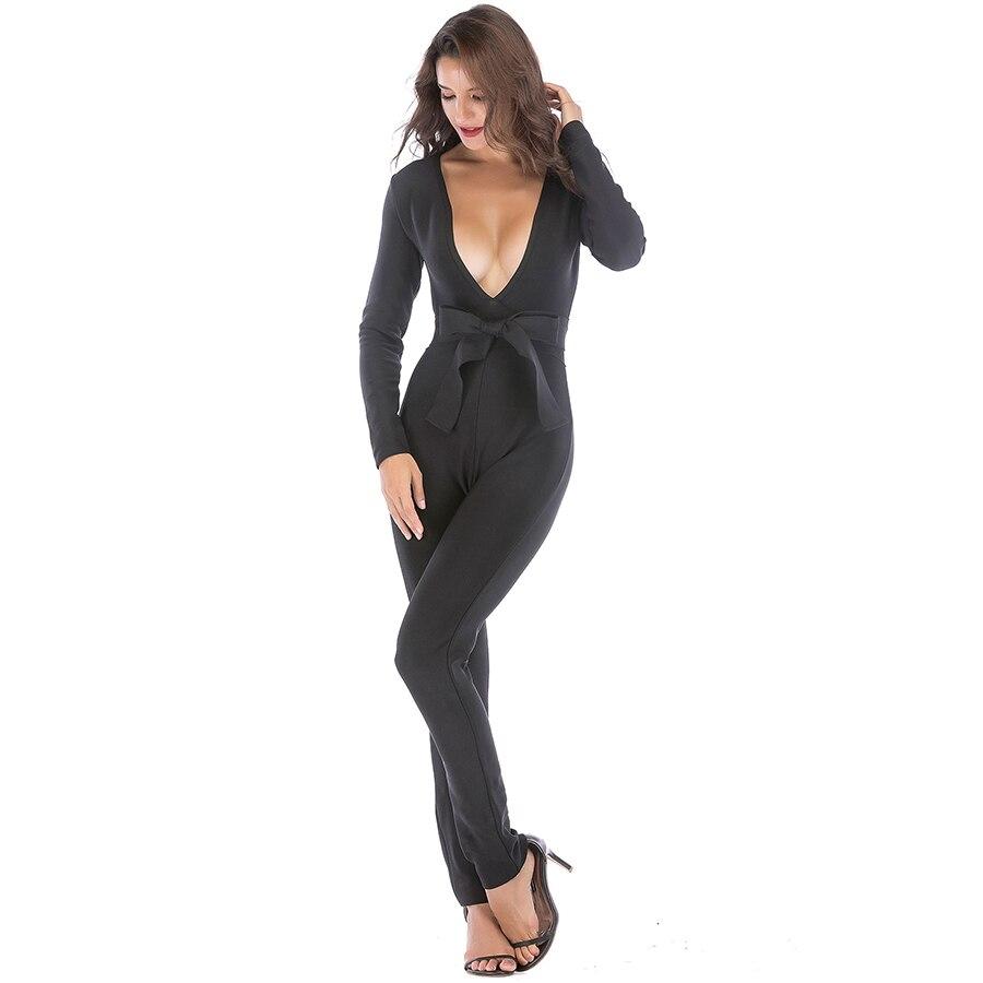 Gros Corps Col Femmes Célébrité Style Con Profond Spéciale Club En Sexy V Salopette Nouveau Combinaisons Offre Nuit Bandage De Fête Mode n0q7wfRRp8