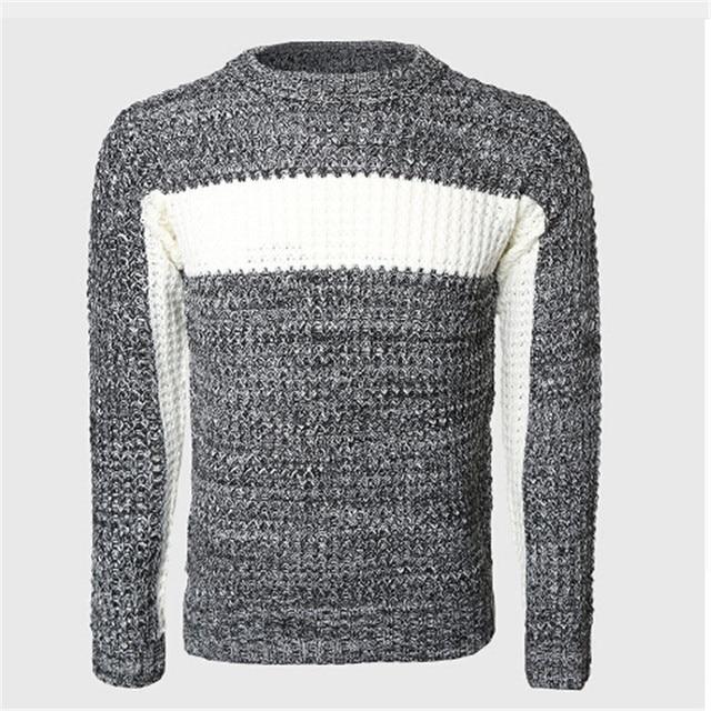 Männer Thick Patchwork Pullover Männlichen Zopfmuster Pullover ...