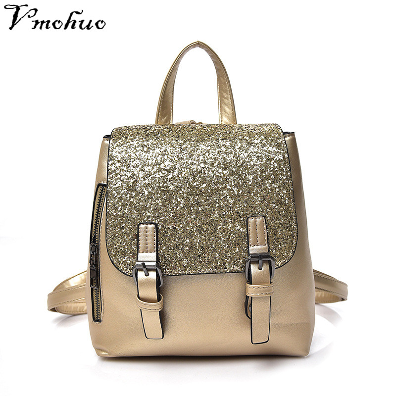 VMOHUO Tunic Women Backpack Sequins Brand Leather Shine Backpacks For Adolescent Girls Mochila Feminina Tunic Female School BagVMOHUO Tunic Women Backpack Sequins Brand Leather Shine Backpacks For Adolescent Girls Mochila Feminina Tunic Female School Bag