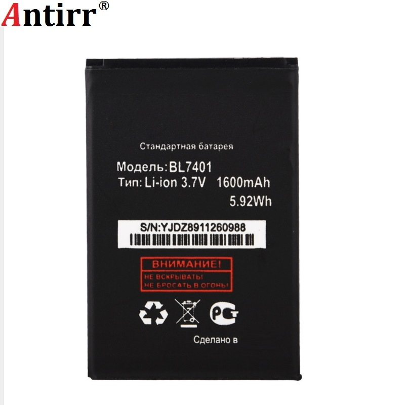 Antirr High Quality <font><b>BL7401</b></font> Battery For <font><b>FLY</b></font> IQ238 IQ 238 <font><b>BL7401</b></font> BL 7401 1300mAh Mobile Phone Replacement Accumulator in stock image
