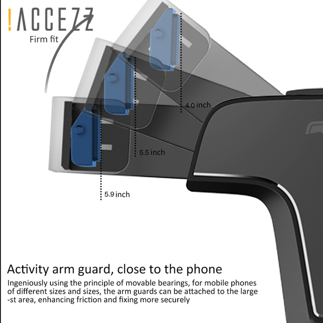 Aluminum Gravity Car Phone Holder Stand Air Vent 360 Degree Rotation Huawei P20 Iphone X 8 Gps Mobile Support Bracket