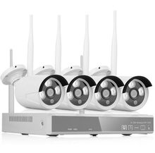 4PC WiFi IP Camera DIY Kit Night Vision Alarm Systems Security Home HD 720P Wireless Surveillance Outdoor CCTV Cam 4CH 1080P NVR