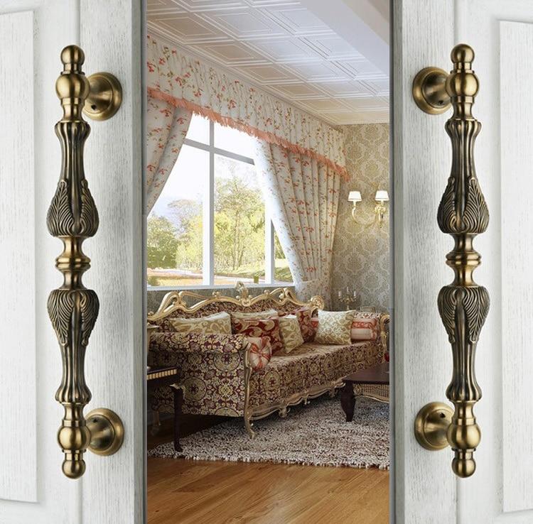 Classic European Zinc Alloy Bronze Pull Handle Villa Archaize
