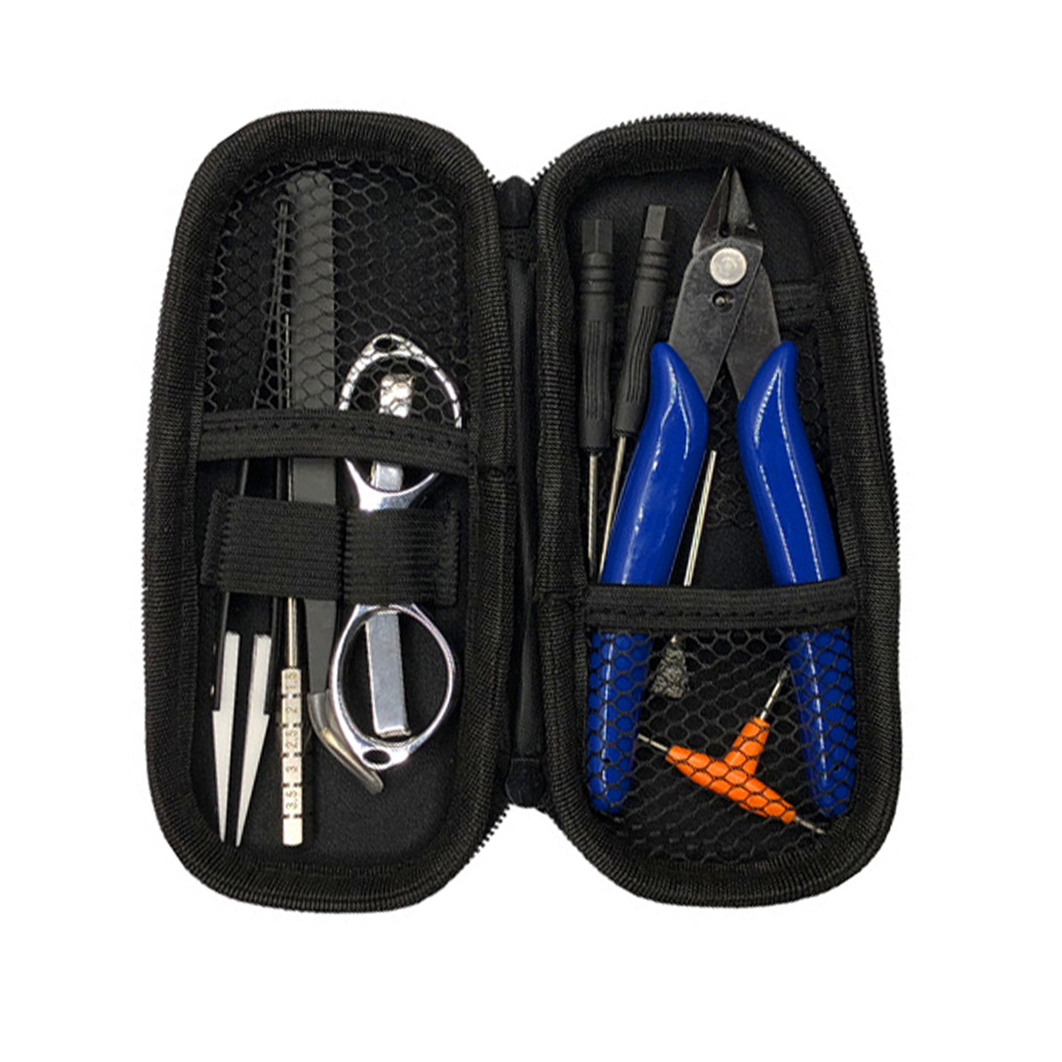Mini Vape DIY Tool Bag Tweezers Pliers Kit Coil Jig Winding For Packing Electronic Cigarette Accessories
