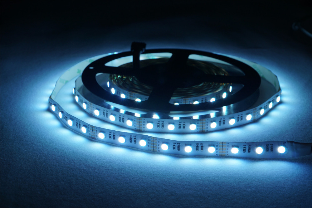 4 Colors in 1 led RGBW LED Strip Not-waterproof 24V 12V 5050 smd 60LED/m 5m/Roll RGBW LED strip light Controller free shipping