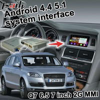 Android GPS navigation box for Audi Q7 2G MMI system 2005-2009 video interface mirror link 6.5 7 inches youtube quad core iGO