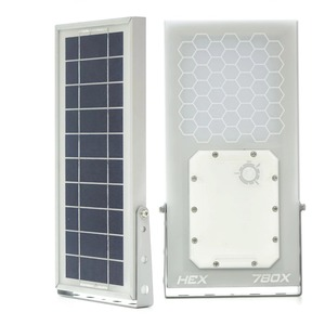 Image 2 - HEX 780X blanc chaud tout en un étanche jour/nuit capteur 3 modes de puissance LED à alimentation solaire lumière extérieure applique murale solaire