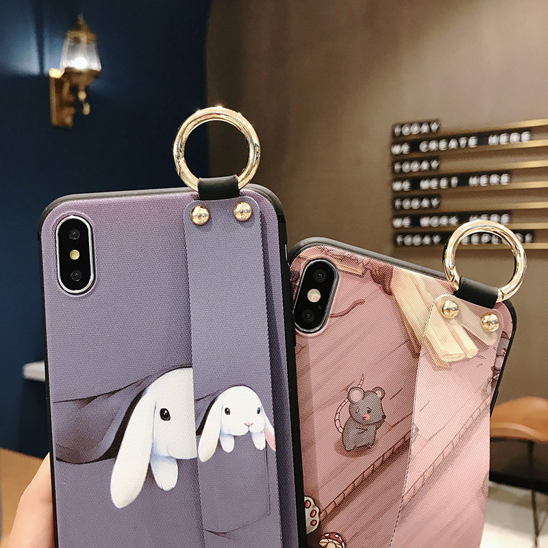 Girls Fashion Case with Wrist Strap for iPhone 11/11 Pro/11 Pro Max 6