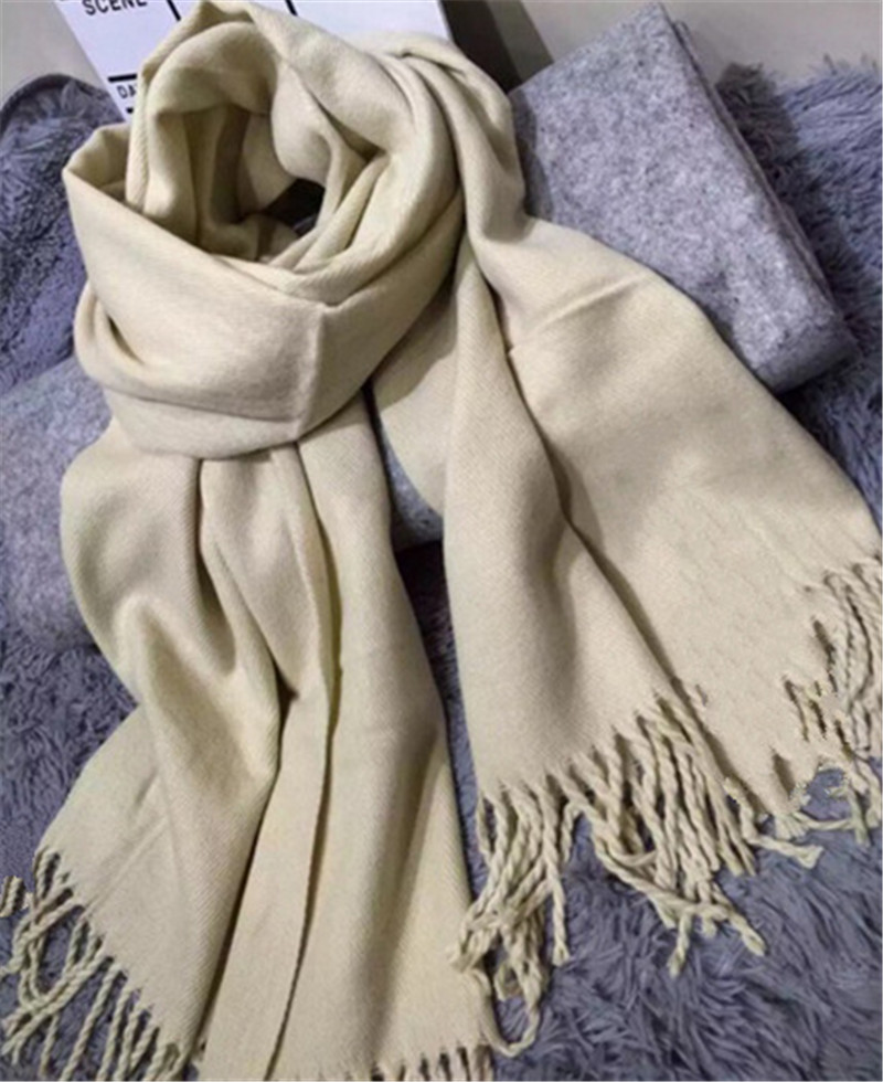 Apparel Accessories European And American Autumn And Winter Imitation Cashmere 100 Match Men And Women Pure Color Super Thick Scarf Fy18101608