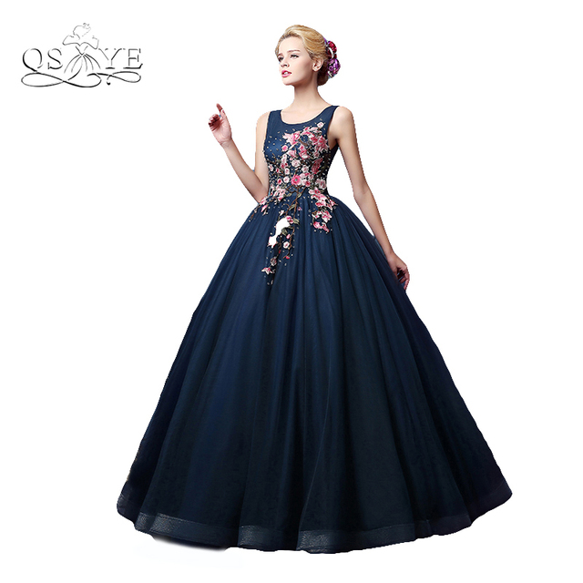 Aliexpress Buy Vintage Ball Gown Dark Navy Arabic Formal