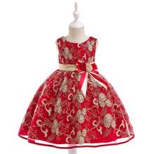 وصل حديثًا فستان بناتي صيفي 2020 فستان بناتي مطرز للأطفال لأعياد الميلاد فستان زفاف للفتيات L9030