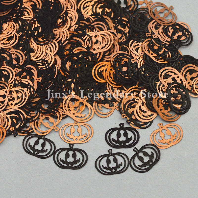 купить halloween pumpkin head design black decorations metal nail foil decals sticker for 3d Nail Art Decor Slice Stickers beauty tools недорого