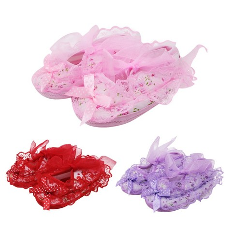 2019 New Lace Bow Baby Girl Princess Shoes Toddler Girl Cute Shoes Newborn High Quality Baby First Walker Shoes Baby Shoes Lahore