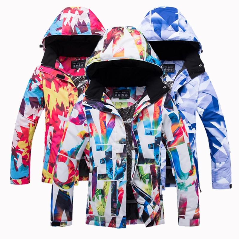 2020 New Hot Ski Suit Women High Quality -30 Female Windproof Waterproof Winter Snow Jacket  Snowboarding Jacket