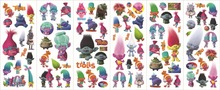 30 sheets/lot of trolls stickers 3D carton bubble sticker of trolls puffy sticker for kids present, party gifts favor